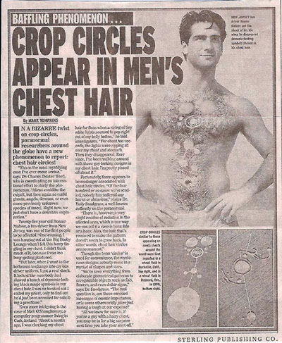crop circles in men's chest hair