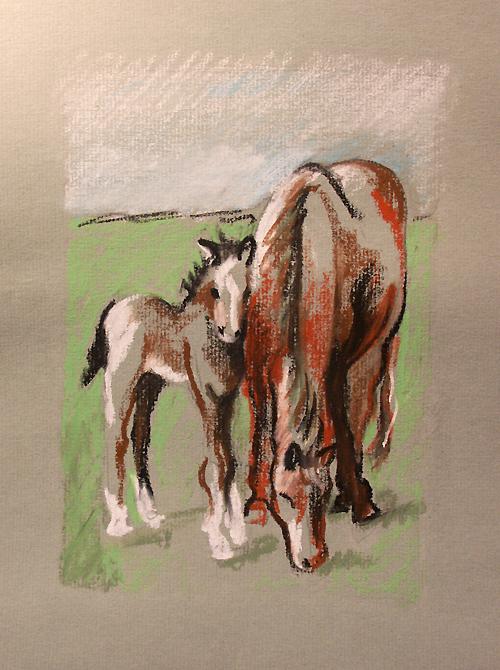 oil pastel on paper -Jamie K McIntosh