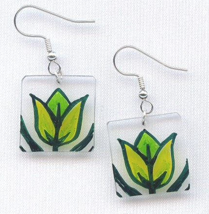 tulip earrings - Paw and Claw Designs