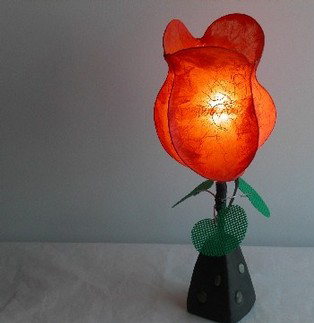 tulip lamp - Jennifer Joh