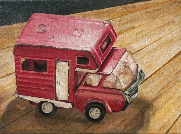 Pink Tonka Truck by Jamie Kuli McIntosh