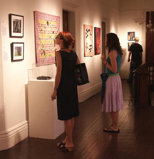 Recycled Matters exhibit (ladies+art)