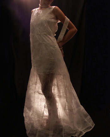Dryer Sheet ArtDress by Jamie Kuli McIntosh