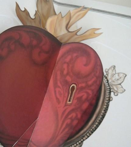pop-up heart card - genius.