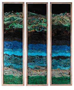 Blue Rope Triptych - John Dahlsen