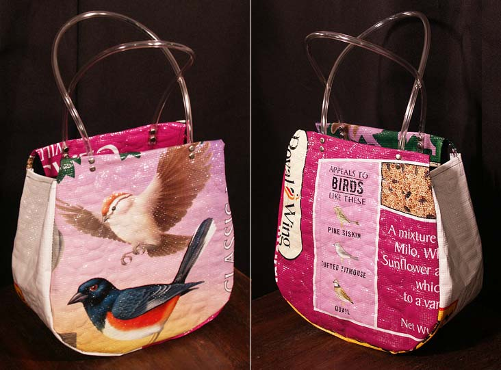Recycled Birdfeed Bags