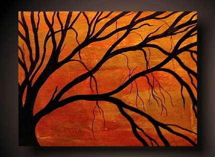 Painting ideas on pinterest acrylic paintings easy for Fall paintings easy