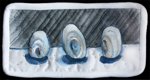 mini quilted painting (shells)